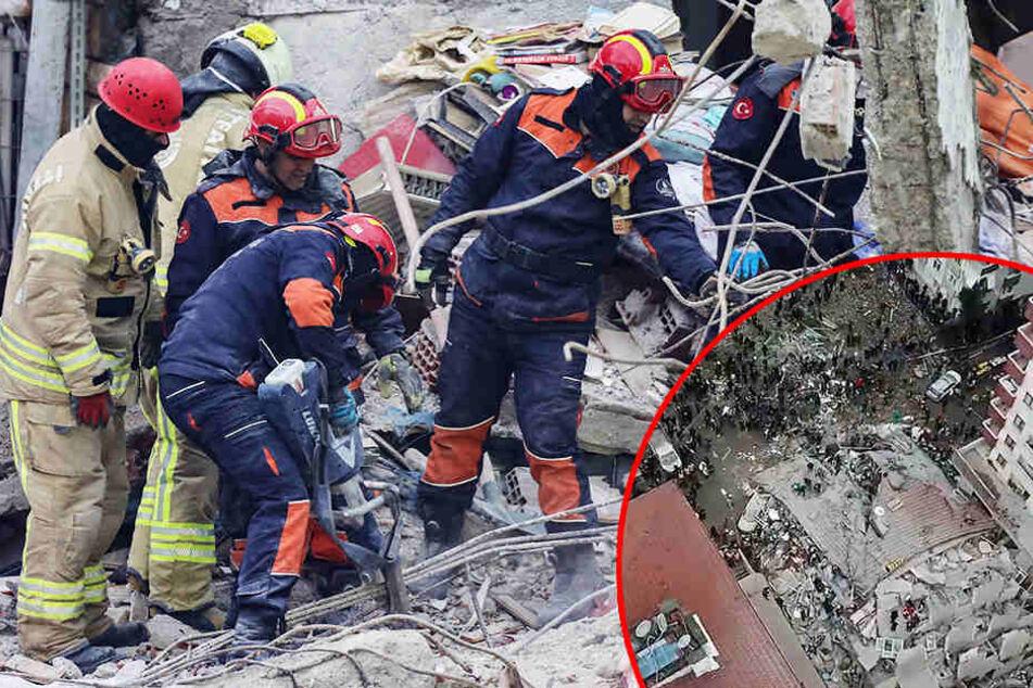 Mehrstöckiges Haus stürzt in sich zusammen: Zahl der Toten steigt weiter!