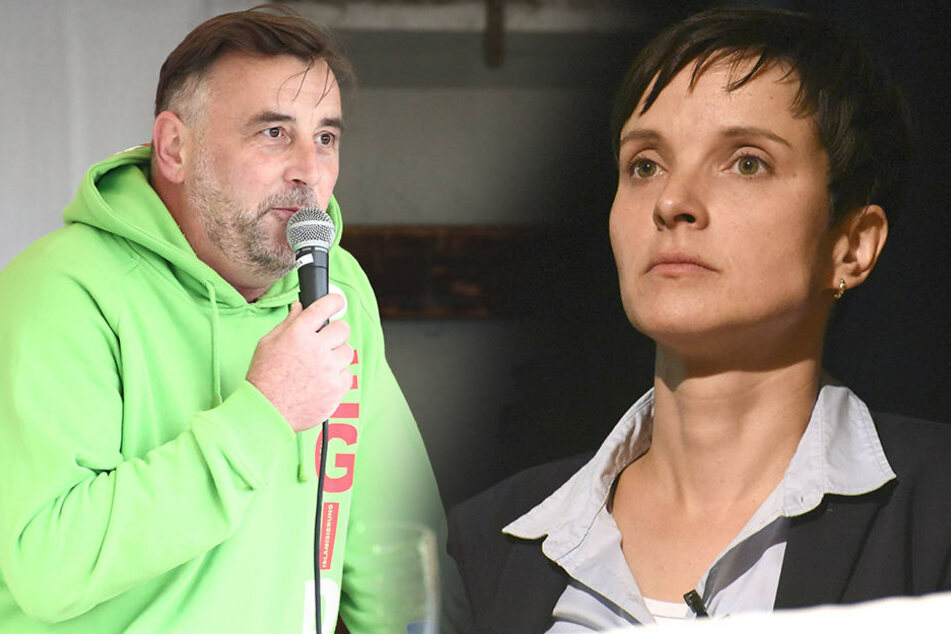 Lutz Bachmann (43, li.) - Frauke Petry (41, AfD).