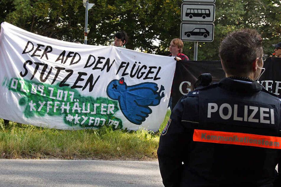 Polizei unterbindet mit Gewalt Anti-AfD-Proteste in Thüringen