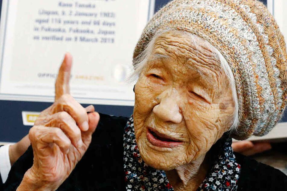 Kane Tanaka, seit dem 22. Juli 2018 offiziell die älteste noch lebende Person der Welt. Die Japanerin ist wahnsinnige 116 Jahre jung.
