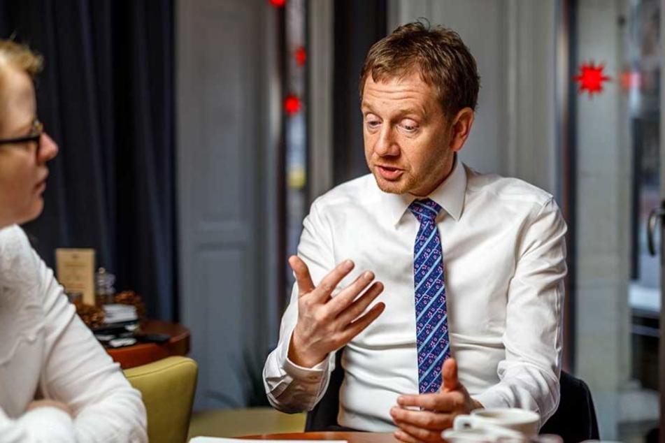 Michael Kretschmer im Gespräch mit TAG24-Redakteurin Juliane Morgenroth.