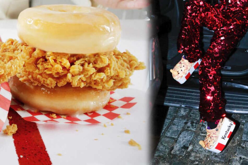 KFC holt Donut-Burger zurück und will Eimer-Schuhe an den Mann bringen
