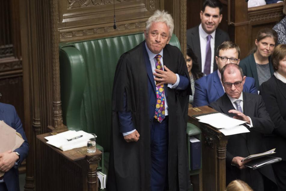 Der scheidende Parlamentspräsident John Bercow.