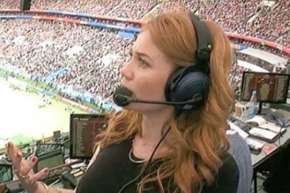 Palina Rojinski während der Eröffnungsfeier im ARD-Fernsehen.