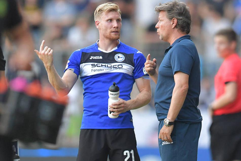 Andreas Voglsammer wird gegen Jahn Regensburg von Trainer Jeff Saibene gesetzt sein.