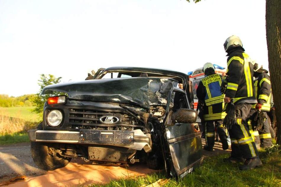 Der Geländewagen ist nach dem Unfall ein Totalschaden!