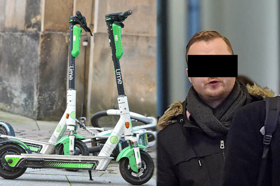 1050 Euro Strafe, Fleppen futsch: Mann blau auf E-Roller erwischt