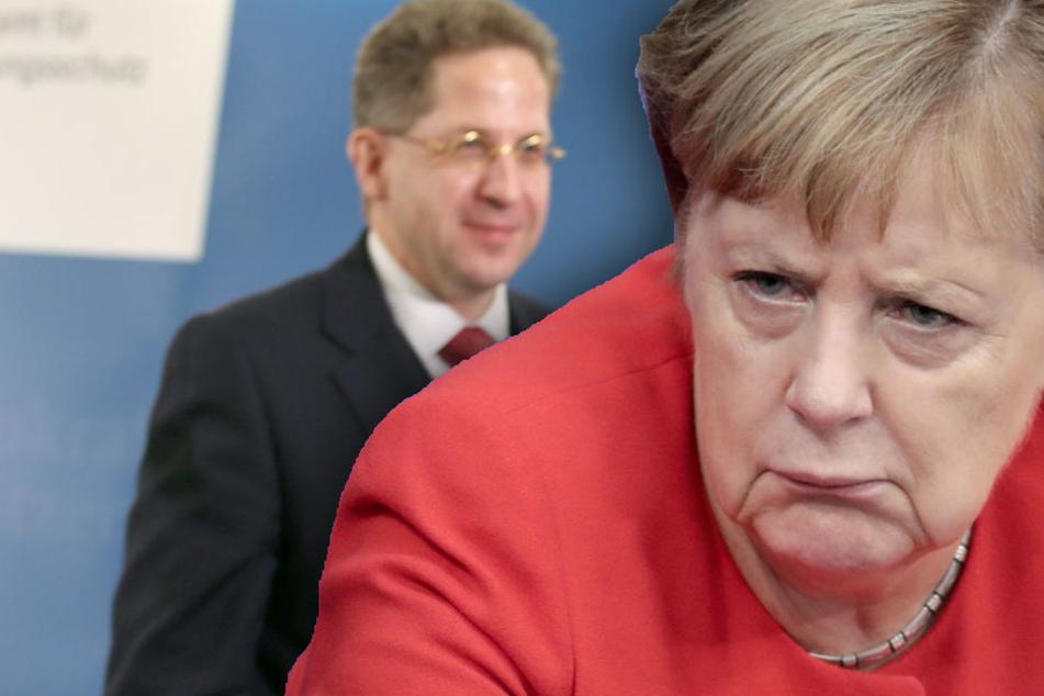 Seehofer hat Maaßen sein Vertrauen ausgesprochen. Was wird aber Angela Merkel tun? (Bildmontage)