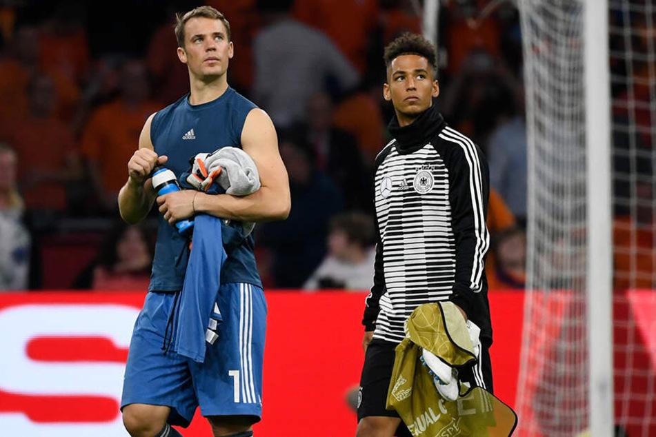 Zwei ehemalige Schalker unter sich: National-Keeper Manuel Neuer und Verteidiger Thilo Kehrer.