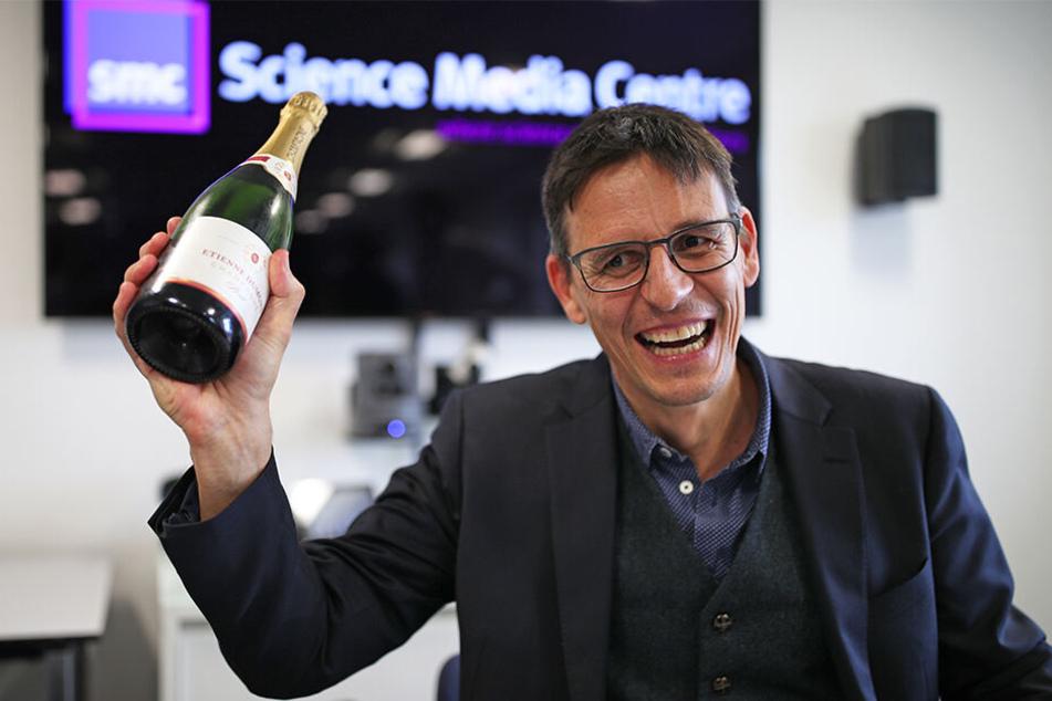 Didier Queloz (53) feiert seinen Nobelpreis.