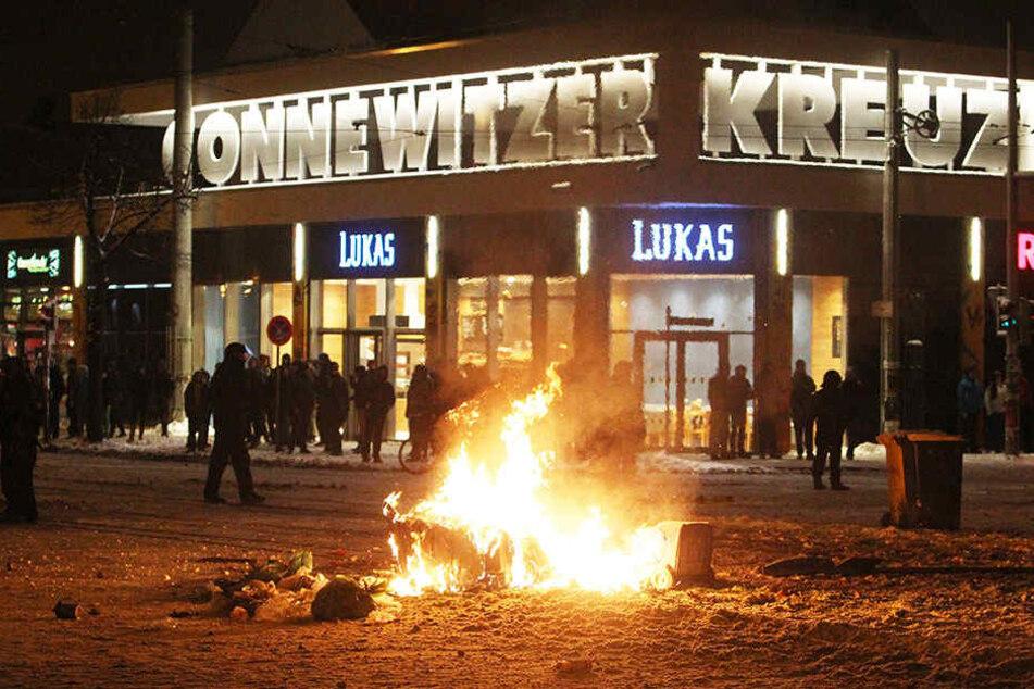 Immer wieder ist es in der Vergangenheit in Connewitz zu schweren  Ausschreitungen von Linksautonomen gekommen.