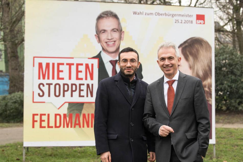 Peter Feldmann hat sich als Wahlkampf-Motto bezahlbaren Wohnraum genommen.