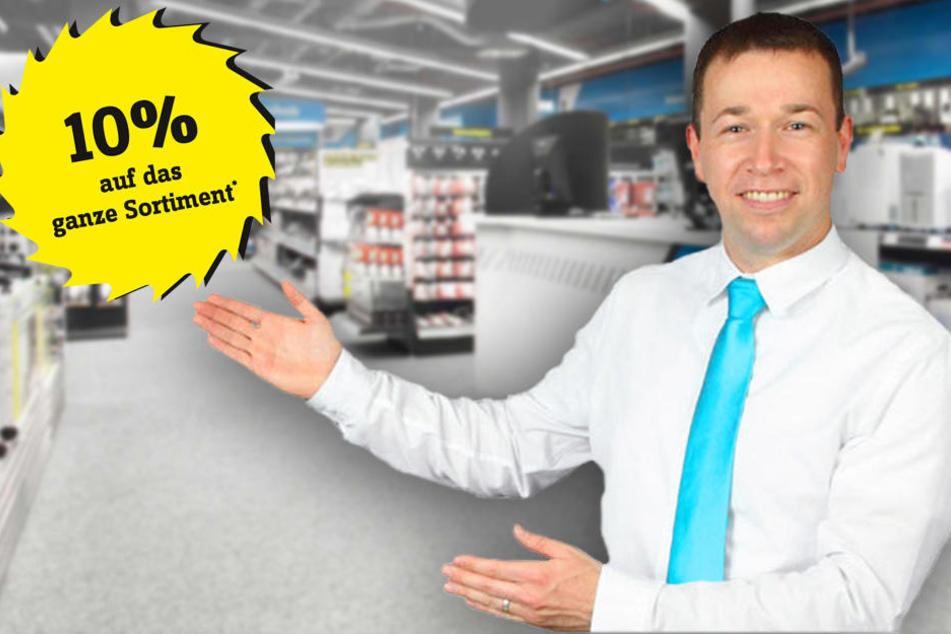 Hi, ich bin Sebastian Mühlner von Conrad Dresden und gebe Dir 10 Prozent Rabatt auf mein gesamtes Sortiment*!