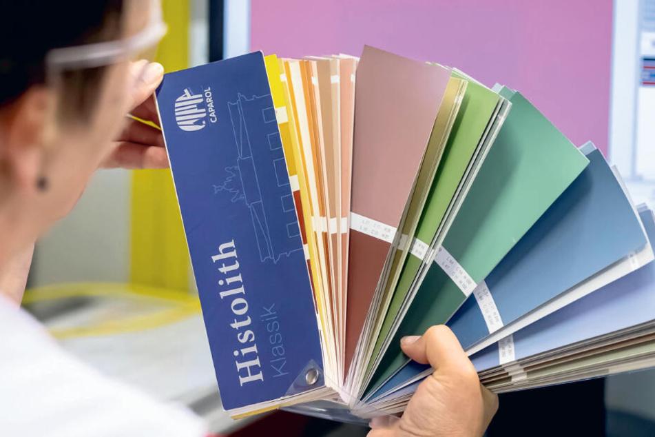 Den exakten Farbton zu treffen ist vor allem eine Frage der richtigen Zutaten-Mixtur.