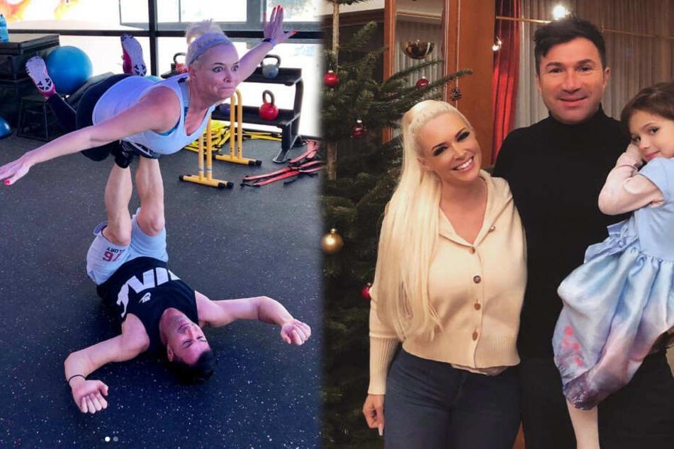 Daniela Katzenberger will beim Weihnachtsfest mit ihrer Familie ordentlich futtern, um die Pfunde dann beim Training wieder abzuspecken. (Fotomontage)