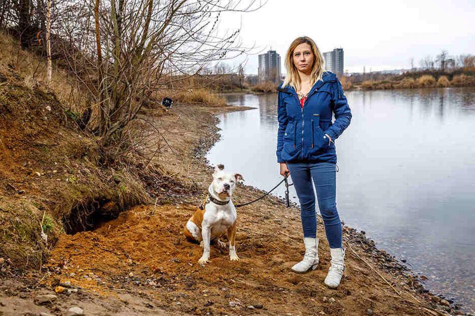 Hier buddelte die amerikanische Bulldogge Mila (3) die toten Meerschweine aus. Frauchen Anastasia (25) war schockiert.