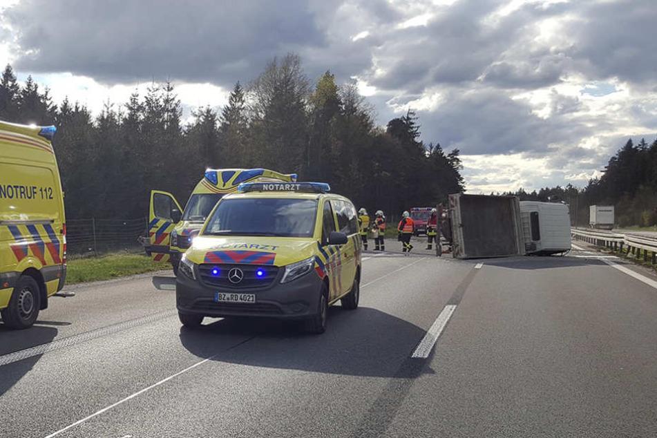 Auf der A4 kam es am Nachmittag zu einem Unfall.