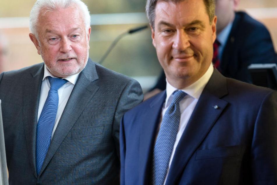 Wolfgang Kubicki (l.) glaubt nicht an einen Wahlerfolg für Markus Söder und die CSU.
