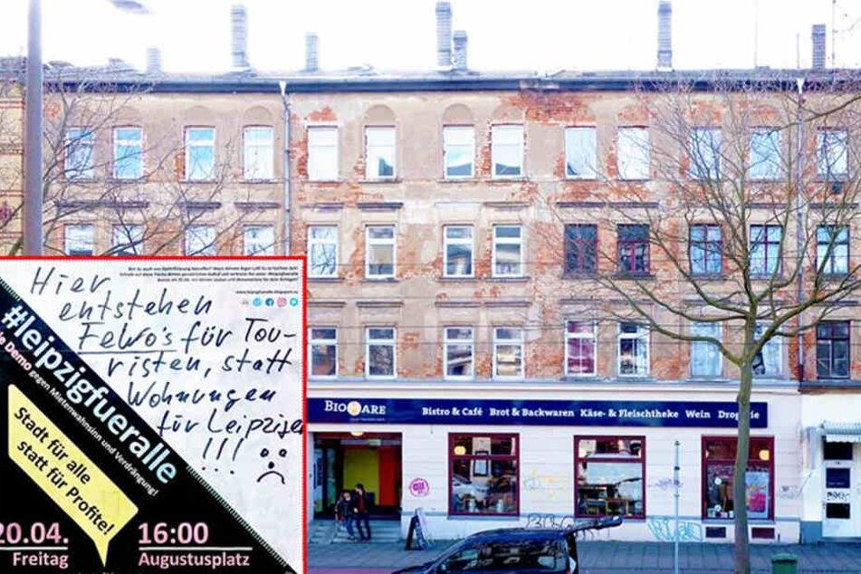 Großinvestoren kaufen nach und nach Häuser und Wohnungen in Leipzig, um sie saniert gewinnbringend weiter zu vermieten oder zu veräußern. Dagegen will eine Aktivistengruppe nun angehen.