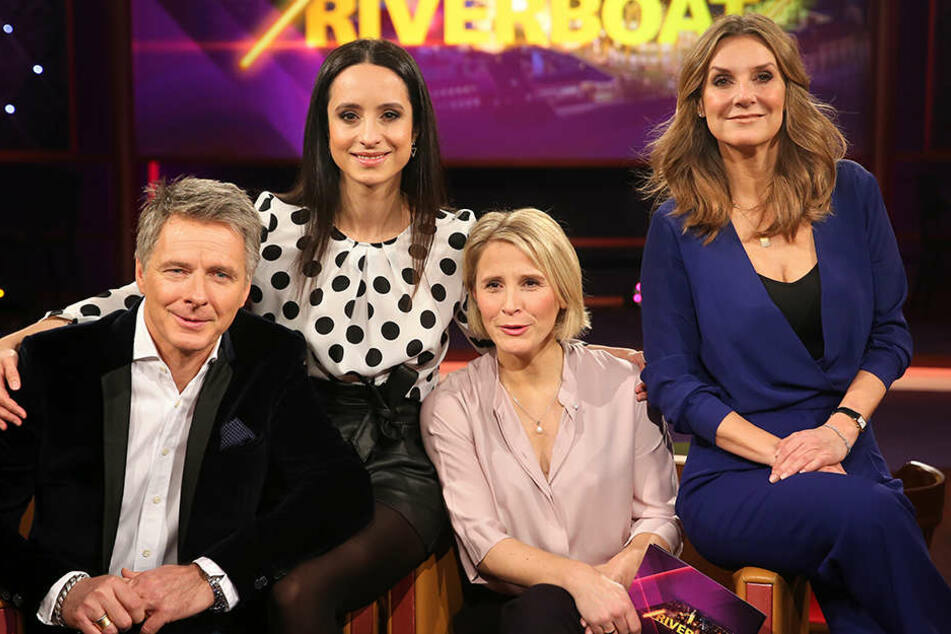 """Die neuen """"Riverboat""""-Moderatoren Jörg Pilawa (v. l.), Stephanie Stumph, Susan Link und Kim Fisher. Ab 22.00 Uhr bei MDR."""