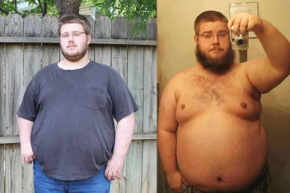 Clayton Gee (30) vor seiner Transformation.