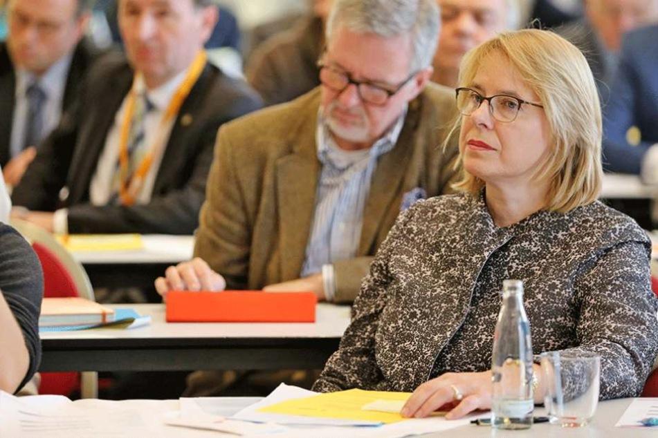 Bettina Kudla auf dem Wahlkongress der CDU in Leipzig.