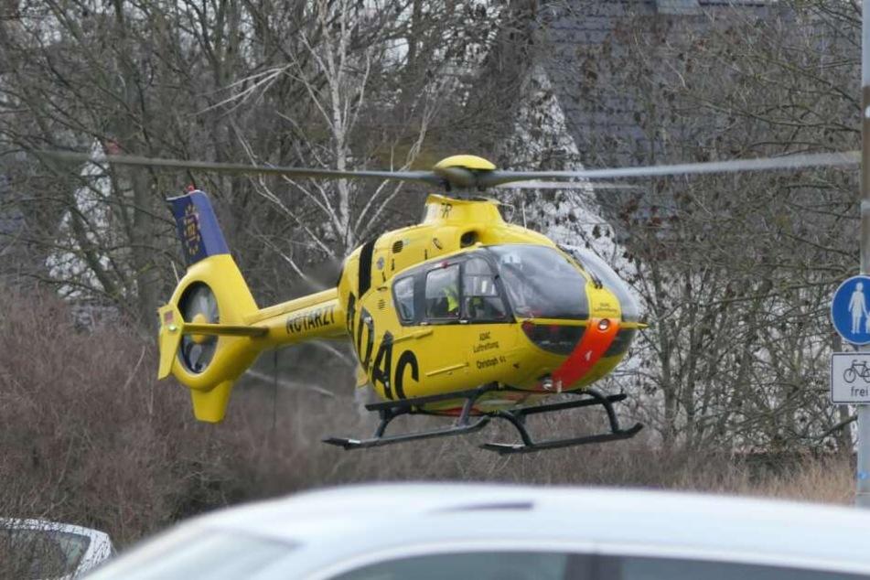 Ein Notarzt wurde an die Unfallstelle in Gerichshain geflogen.