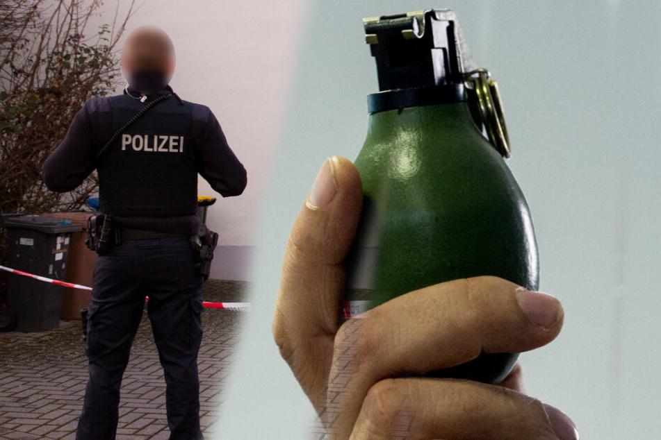 Mann ruft Polizei wegen Einbruchs, dann erzählt er was von einer Handgranate