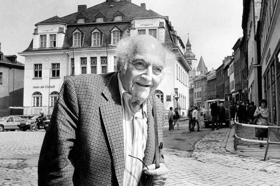 Schriftsteller Stefan Heym in Schwarzenberg.
