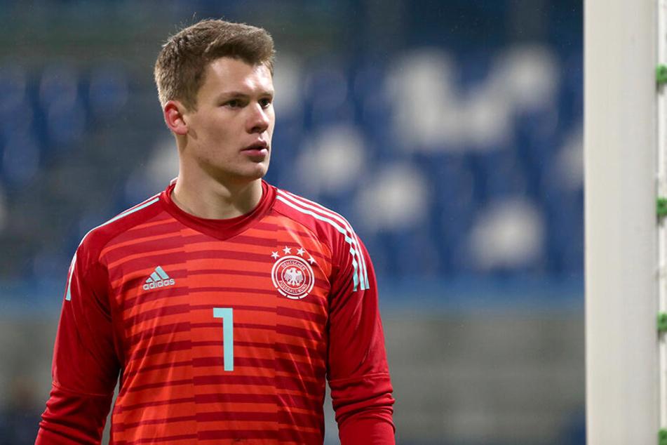 Im Trikot der deutschen Junioren-Nationalmannschaft machte Nübel bei der U21-EM in Italien besonders auf sich aufmerksam.