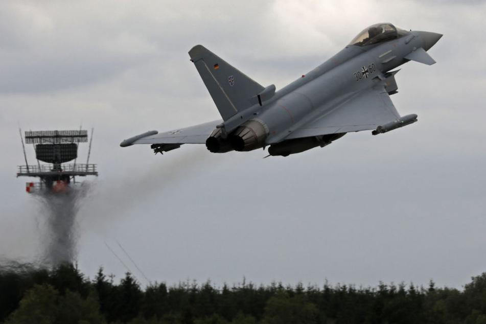Eurofighter der Luftwaffe waren der Grund des Doppelknalls. (Symbolbild)