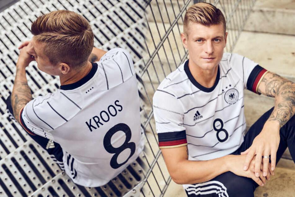 Auch Toni Kroos steht das neue Jersey gut.