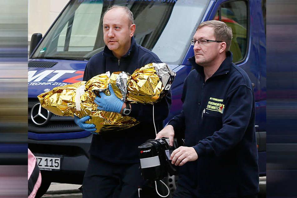 Das verletzte Kind wurde nach Dresden in eine Spezialklinik gebracht.