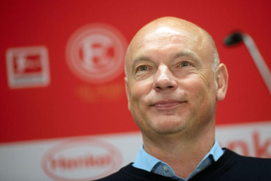 Uwe Rösler (51) wurde am Mittwoch als neuer Trainer von Fortuna Düsseldorf vorgestellt.