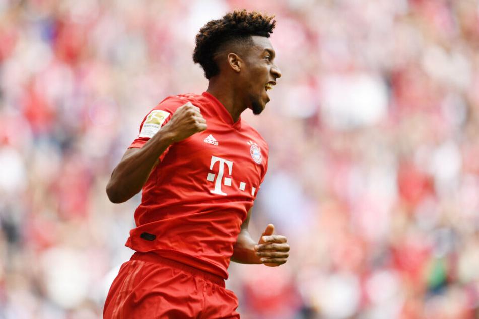 Kingsley Coman besorgte mit seinem Treffer das frühe 1:0 für den FC Bayern München.