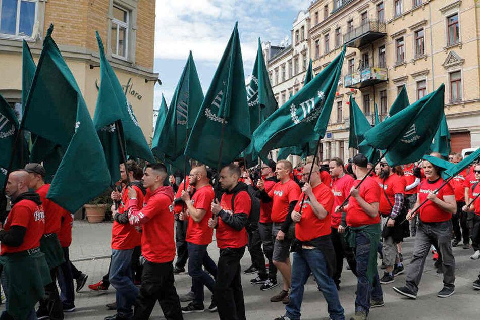 Am 1. Mai marschierte der III. Weg durch Chemnitz.