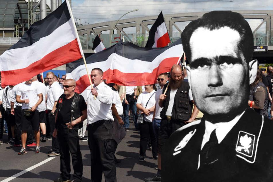 Die Neonazis wollen am 18. August in Berlin dem Todestag von Rudolf Heß (†93) tags zuvor gedenken.
