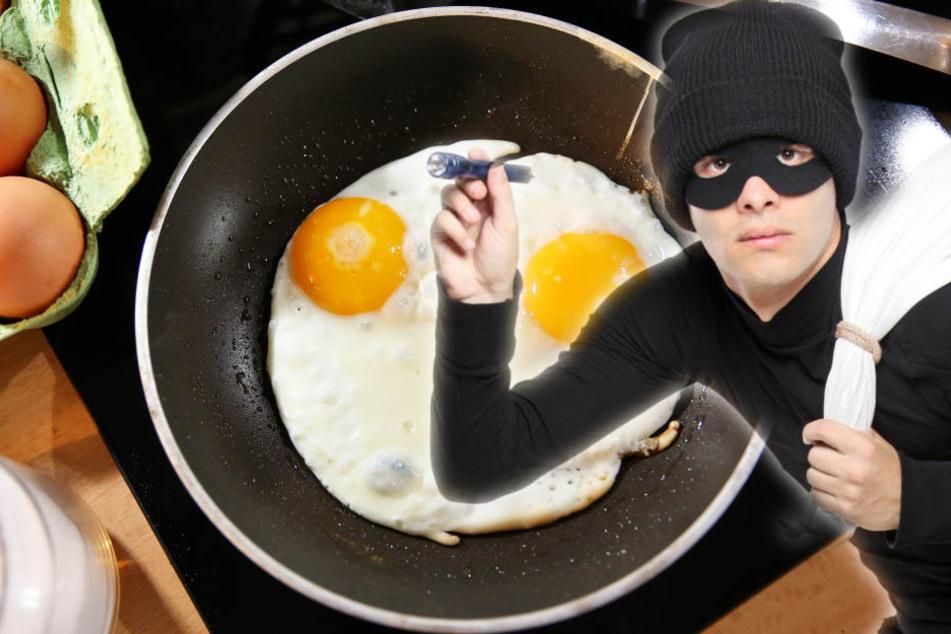 Völlig irre: Einbrecher braten Eier auf dem nackten Kochfeld und fliegen. (Symbolbild)