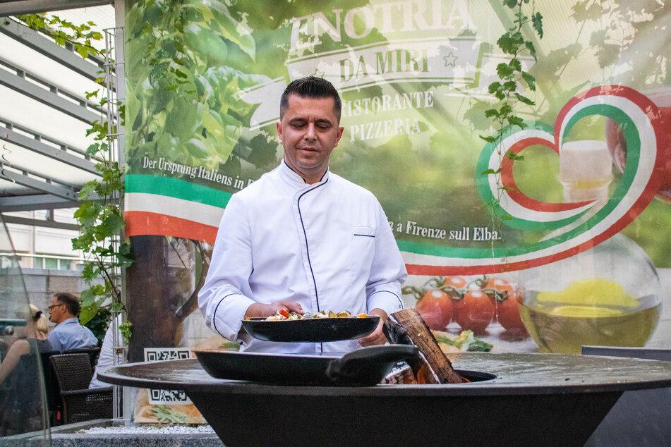 Miri Myslimaj (Inhaber des Restaurants Enotria da Miri).