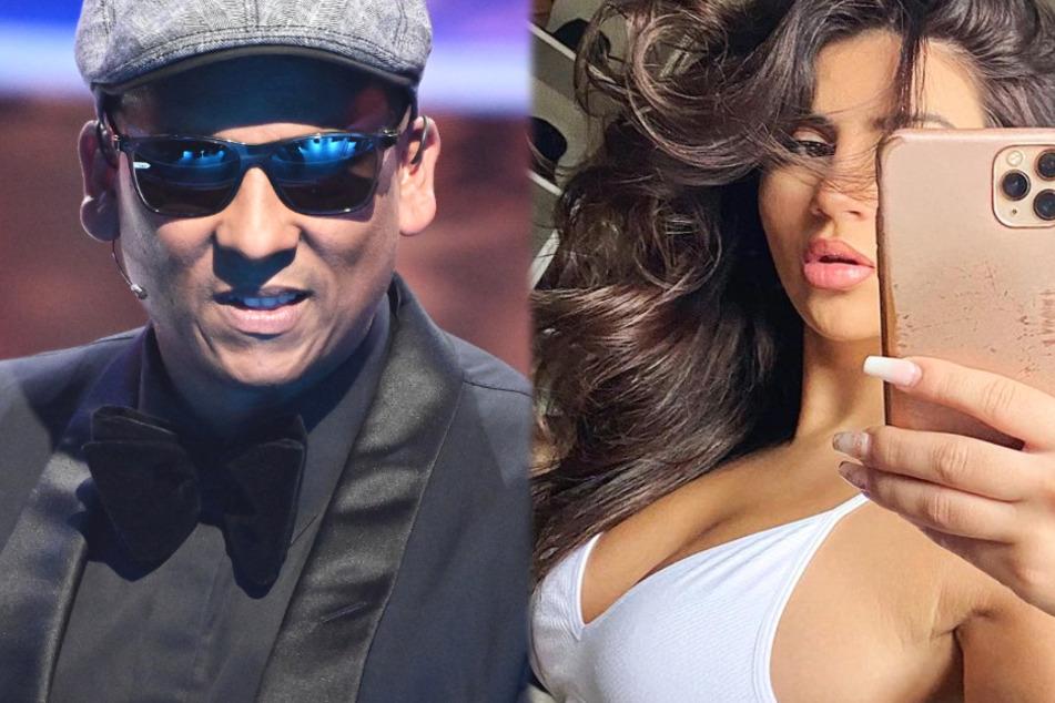 Die Montage zeigt links Xavier Naidoo (49) und rechts die Instagram-Influencerin Zara Todil (25) aus Frankfurt.