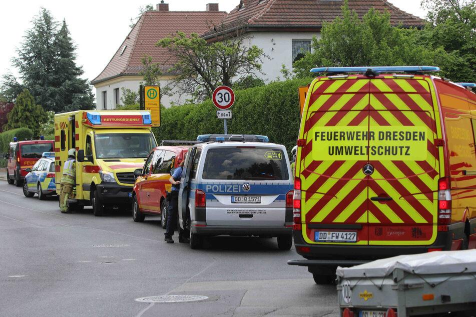 Polizei, Feuerwehr und Rettungsdienst waren vor Ort auf der Quohrener Straße.