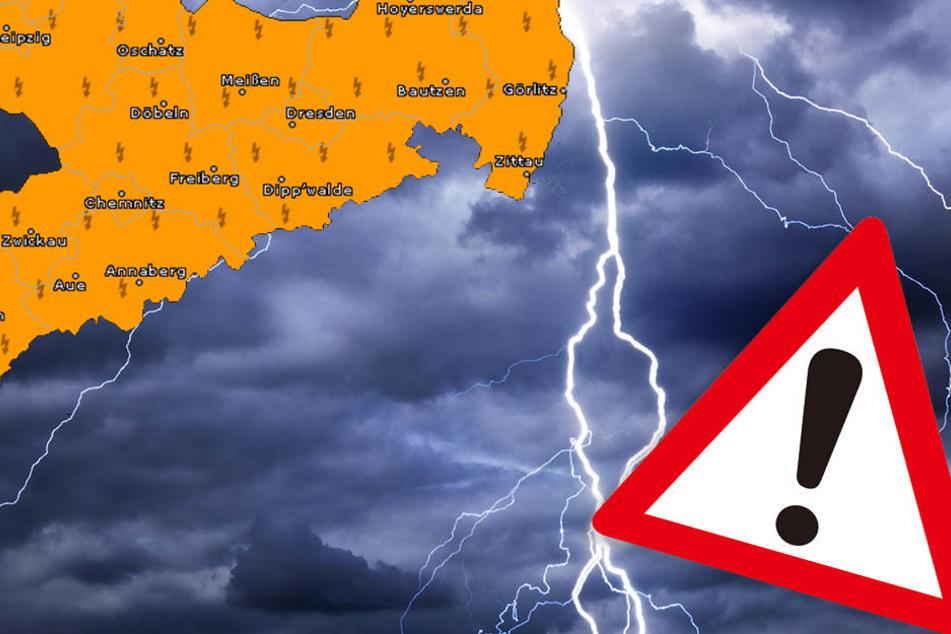 Starkregen und Hagel! Schwere Gewitter rollen auf Sachsen zu