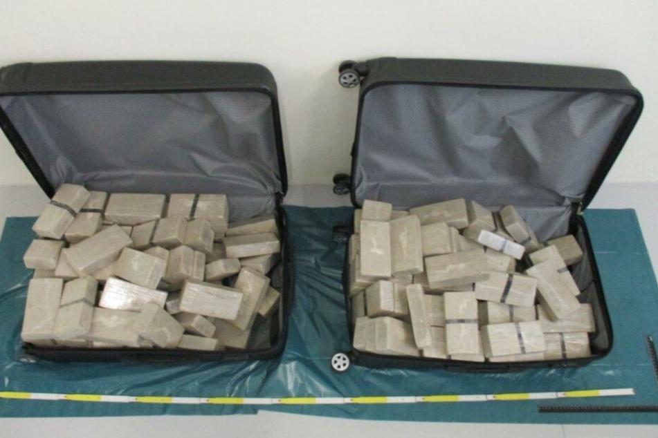 Insgesamt 70 Kilo Heroin wurde vom Zoll sichergestellt.