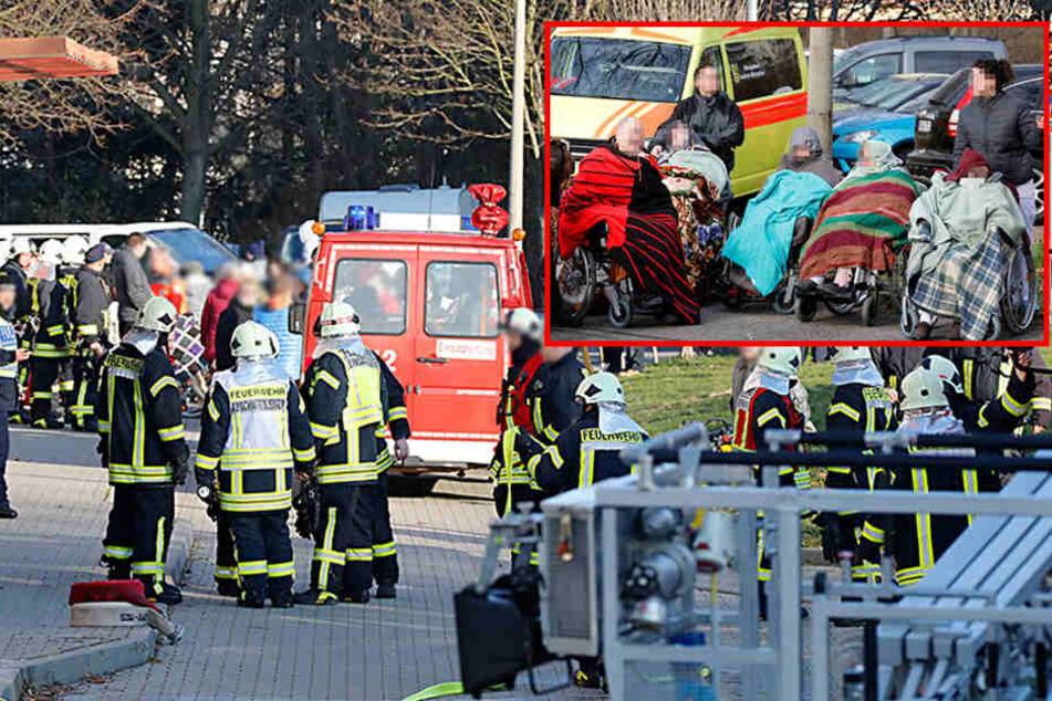 Feuer in Pflegeheim: Gebäude wird evakuiert