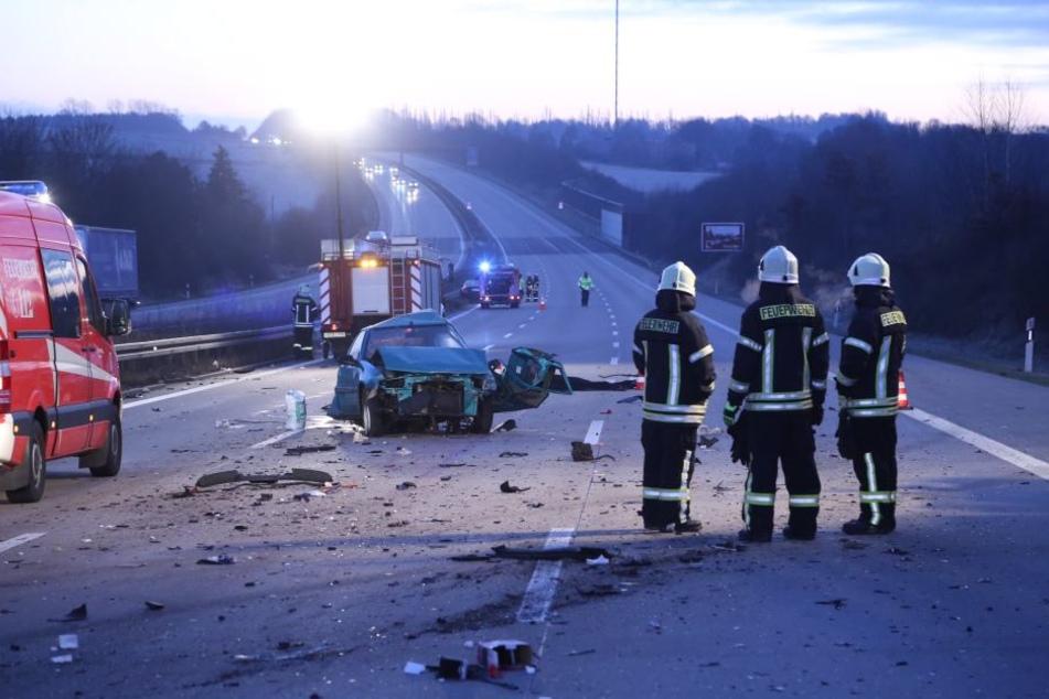 Ein Mann starb am Morgen bei einem Unfall auf der A4.