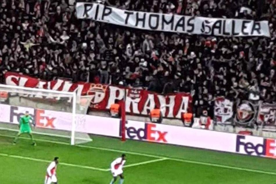 Nicht nur beim Europa-League-Spiel von Slavia Prag...