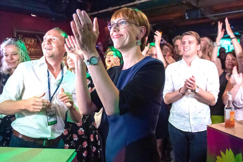 Große Freude bei den Grünen um Chefin Katja Meier.