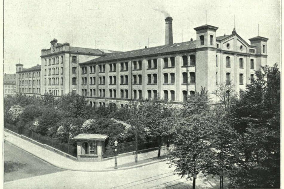 Die Chemnitzer Aktienspinnerei Ende des 19. Jahrhunderts. Hier tobte 1883 der Arbeitskampf, angeführt von Minna Simon (1845-1902).