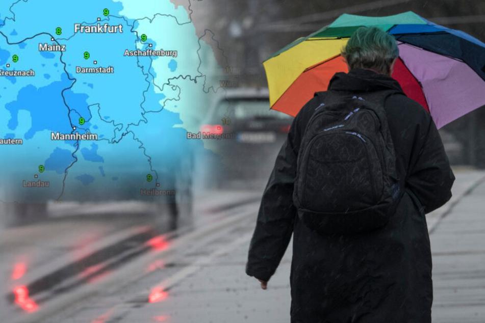 Schmuddelwetter-Alarm! In Hessen macht sich nasskaltes Wetter breit.