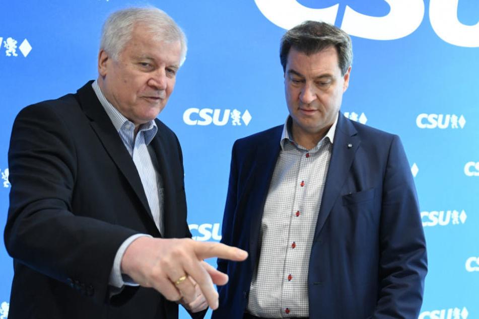 Horst Seehofer und Markus Söder (r.) sehen die AfD als Problem an.